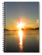 Winter River Sunrise Spiral Notebook