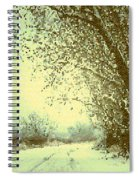 Winter Road Abstract  Spiral Notebook