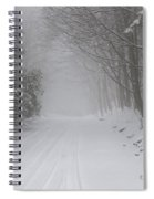 Winter Road During Snow Storm Spiral Notebook