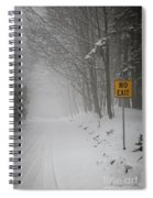 Winter Road During Snowfall I Spiral Notebook