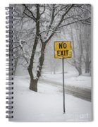 Winter Road During Snowfall IIi Spiral Notebook