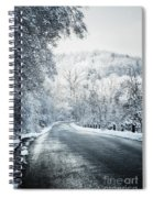 Winter Road In Forest Spiral Notebook
