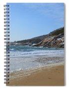 Winter Sand Beach Acadia Spiral Notebook