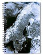 Winter Scandinavia Satellite Map Spiral Notebook