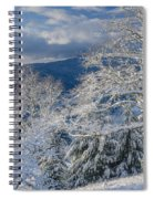 Winter Scene At Berry Summit Spiral Notebook
