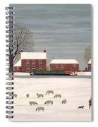 Winter Scene In Lincolnshire Spiral Notebook