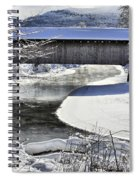 Winter Scene In Montgomery Spiral Notebook
