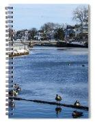Winter Scene Jersey Shore Town Spiral Notebook