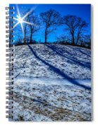 Winter Scinery In The Mountains With Bllue Sky And Sunshine Spiral Notebook