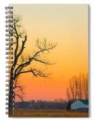 Winter Season Country Sunset Spiral Notebook