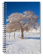 Winter Season On The Plains Portrait Spiral Notebook