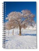 Winter Season On The Plains Portrait Spiral Notebook