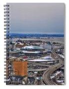 Winter Skyway Downtown Buffalo Ny Spiral Notebook