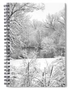 Winter Snow At Huron River Spiral Notebook