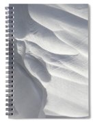 Winter Snow Drift Sculpture  Spiral Notebook