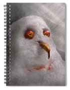 Winter - Snowman - What Are You Looking At Spiral Notebook