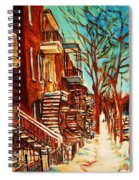 Winter Staircase Spiral Notebook
