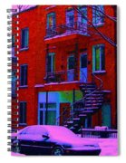 Winter Staircases Two Spiral Notebook