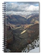 Winter Storm At The Grand Canyon Spiral Notebook