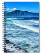 Winter Storm Surf At Ho'okipa Maui Spiral Notebook