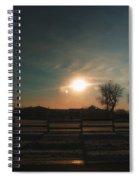 Winter Sunrise On The Farm 02 Spiral Notebook