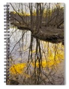 Winter Sunset At Williston Mill Spiral Notebook