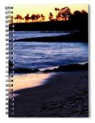 Winter Sunset In Laguna Beach II Spiral Notebook