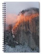Winter Sunset On El Capitan Spiral Notebook