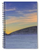 Winter Sunset Over Eagle Lakes Spiral Notebook