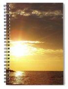 Winter Sunset Over Long Island Spiral Notebook