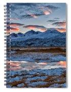 Winter Sunset Reflection Spiral Notebook