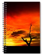 Winter Sunset Spiral Notebook