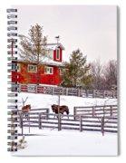 Winter Thoroughbreds Spiral Notebook