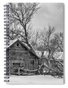 Winter Thoughts Monochrome Spiral Notebook