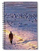 Winter Time At The Beach Spiral Notebook