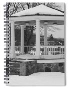 Winter Time Gazebo Spiral Notebook