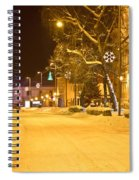 Winter Time Street Scene In Krizevci Spiral Notebook