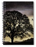Winter Tree And Ravens Spiral Notebook