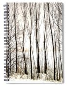 Winter Tree Fence 13283 Spiral Notebook