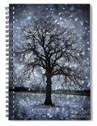 Winter Tree In Snowfall Spiral Notebook