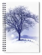 Winter Tree On Hill  Spiral Notebook