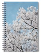 Winter Tree Scene Spiral Notebook