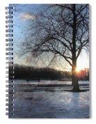 Winter Tree Sunset Spiral Notebook