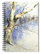 Winter Tree With Birds Spiral Notebook