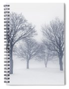 Winter Trees In Fog Spiral Notebook
