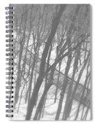 Winter Urban Wood Spiral Notebook