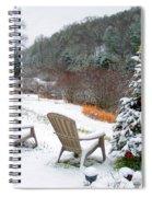 Winter Valley Chairs 2 Spiral Notebook