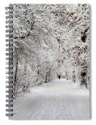 Winter Walk In Fairytale  Spiral Notebook