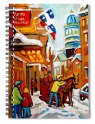Winter Walk Montreal Spiral Notebook