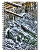 Winter Waterfall 2 Spiral Notebook